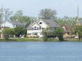 Pet Friendly Corner Lakefront House Approximately 300 Yards to Private Beach