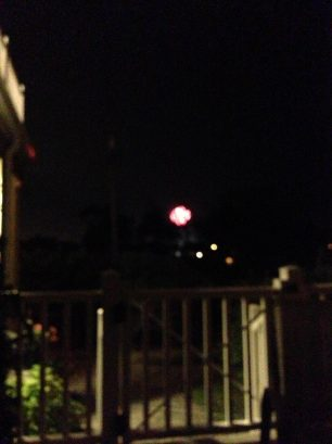 Fireworks every Thurs nite seen from deck