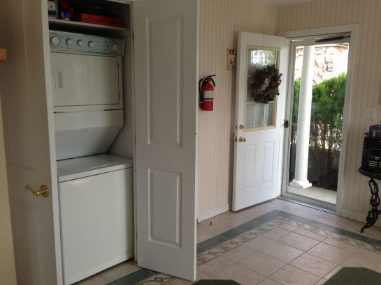 Stackable washer/dryer in kitchen