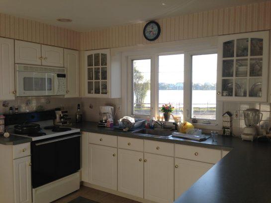 Lake views from kitchen window