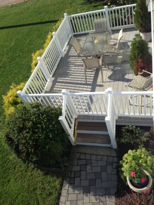 New gated deck and railings