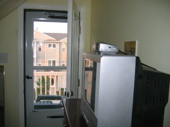 Third Floor Front Bedroom to Front Deck