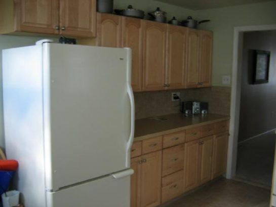 Kitchen Refrigerator & Cabinets