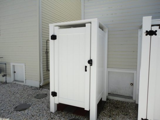 Enclosed Outside Shower with lock