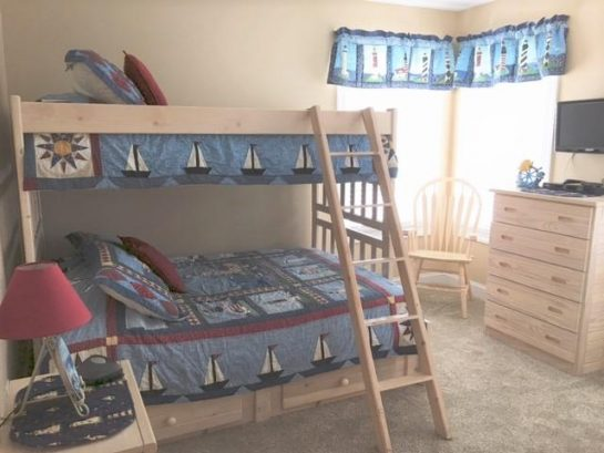 Bunk room with pyramid bunkbed
