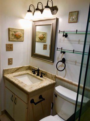 View of Granite Sink Top Vanity