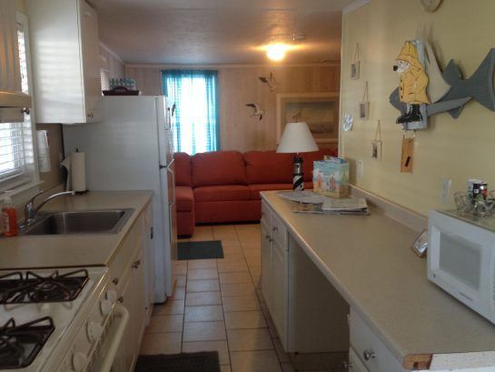 OPEN VIEW OF KITCHEN AND LIVINGROOM