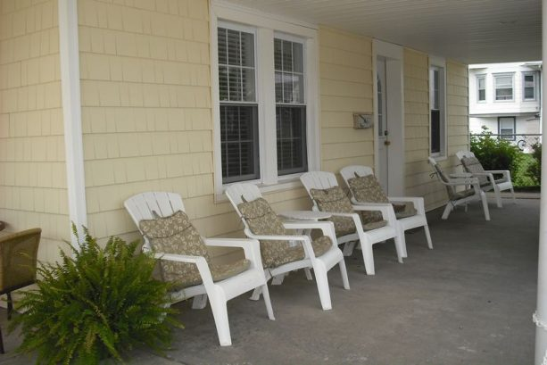 VIEW OF PRIVATE FRONT PORCH
