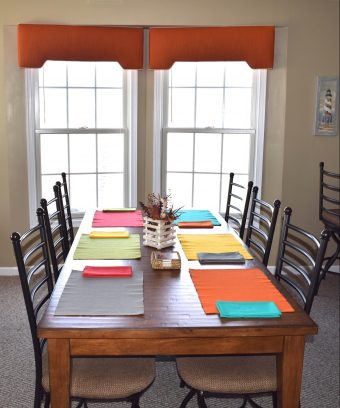 Festive and Roomy Dining Room Table