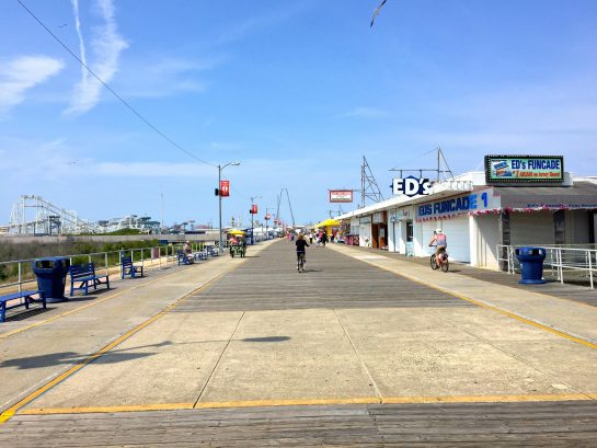 The North End of the Wildwood Boardwalk