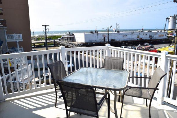 Spacious deck with beautiful ocean views