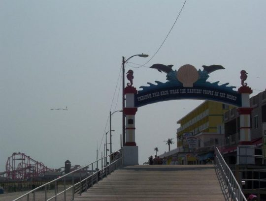 Entrance To Boardwalk