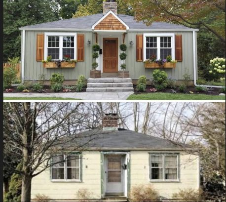 Before  & After Photo of  DIY Network Lawn & Order show
