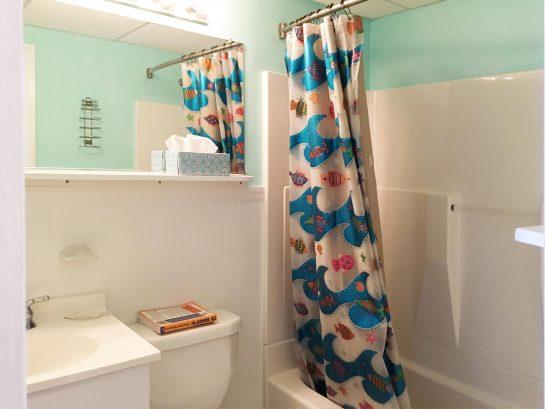 full bath with tub, shower, sink ,toilet