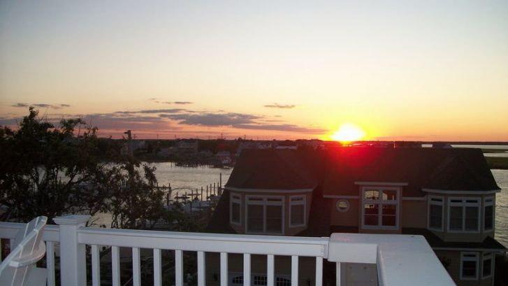 Sunset From The Rooftop Deck