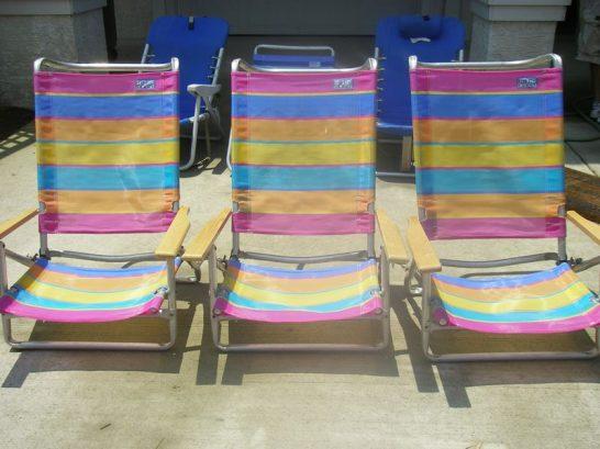 6 Beach Chairs