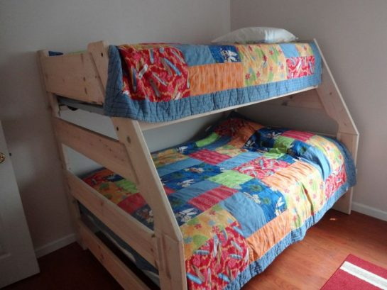 Pyramid Bunk: Full On Bottom & Twin On Top