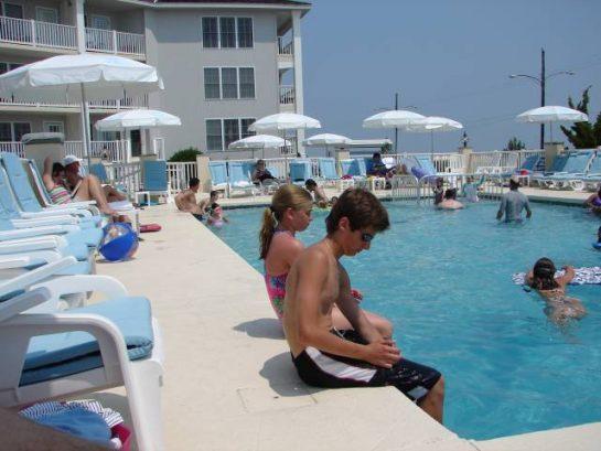 Pool Has Beach As Its Beautiful Backdrop