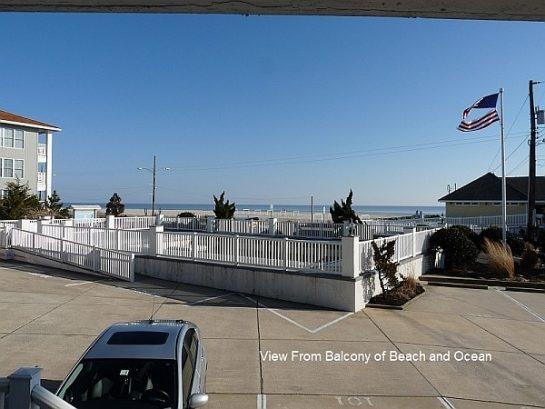 View Of Beach And Ocean From Veranda