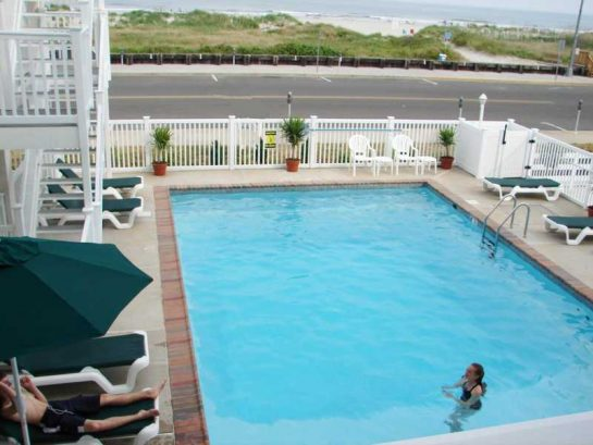 Large Beachfront Heated Pool with all-new furniture