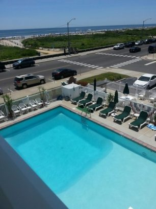 View of Pool and Ocean from condo