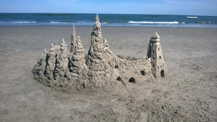 Relax and build a North Wildwood Sand Castle