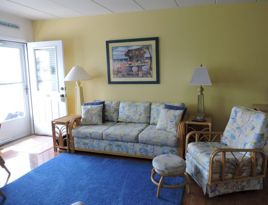 Living room with cozy summer colors!