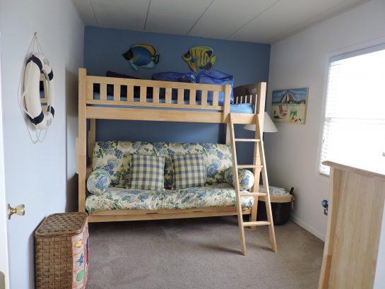 2nd Bedroom w/full & upper twin for children