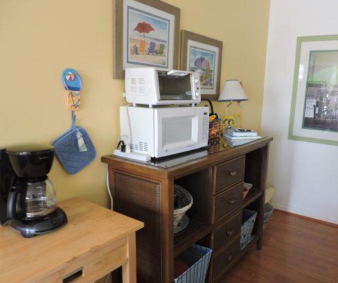 Storage area off kitchen