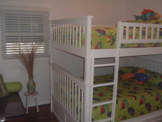 Double bunks in guest room