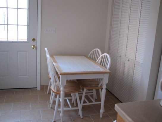 Kitchen table and back door