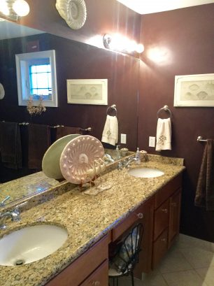 Double Granite Sink Master Bathroom Vanity