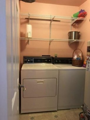 LAUNDRY ROOM - WASHER/DRYER - PLENTY STORAGE