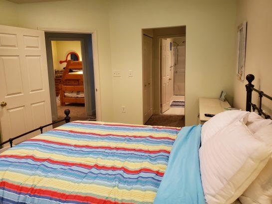 Master bedroom w/private bath