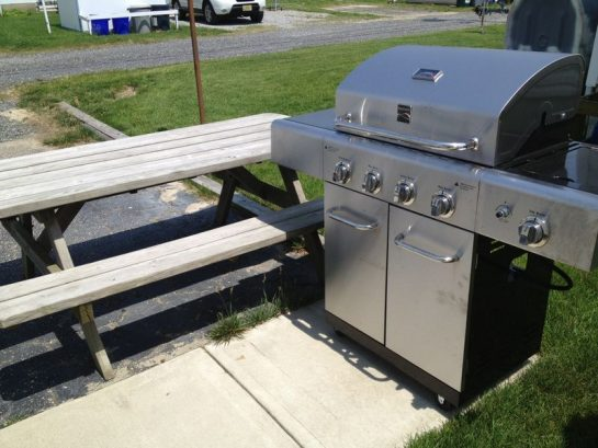 Gas Grill And Picnic Table