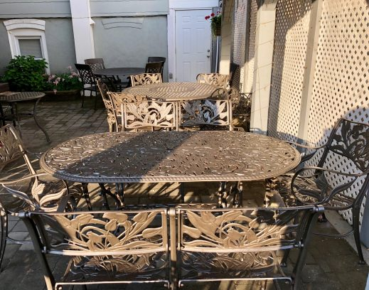 Lovely cast aluminum furniture