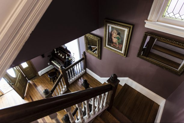 Stunning staircase showing 2nd floor to 1st floor