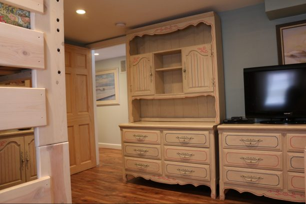 """Celebrate"" bedroom with three dressers & 42"" hdtv & cable"