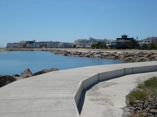 Walk the inlet seawall
