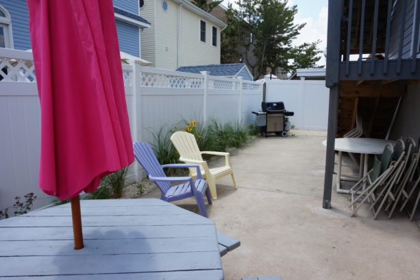 Yard, grill, picnic table