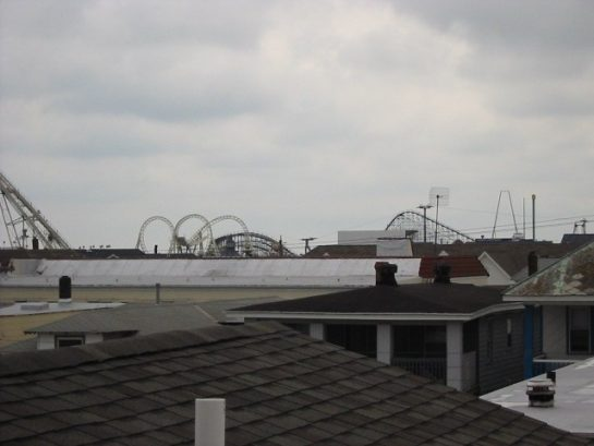 View from loft of rides