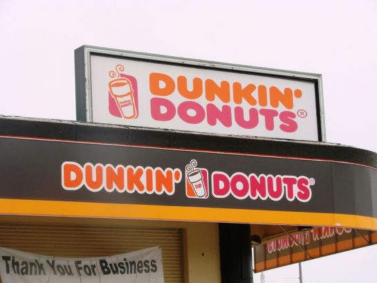 Steps to Dunkin Donuts