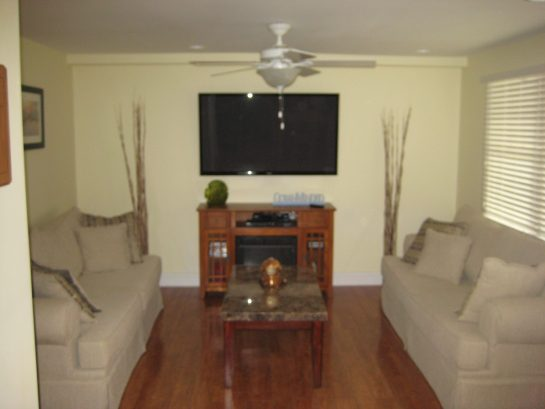 Living Room with 65 LCD