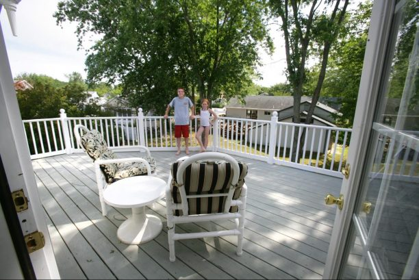 Private upper level deck for relaxing and enjoying the sun.