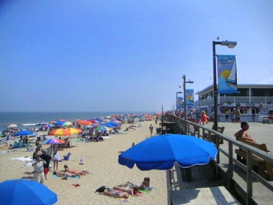 Bethany beach is known as the Quiet Resorts with beautiful beach and fun boardwalk shops.