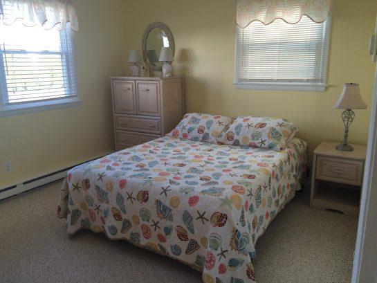"""Main bedroom - Queen bed w/ 3"""" memory foam topper"""
