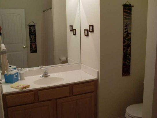 Master Bathroom With Full Size Tub And Shower.