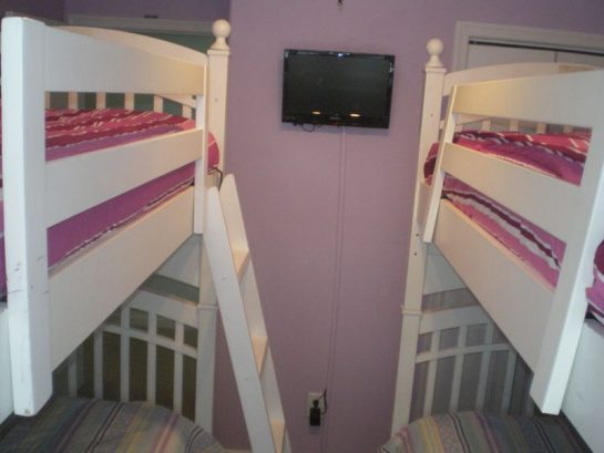 Another view of the single over single matching bunkbeds. Room s
