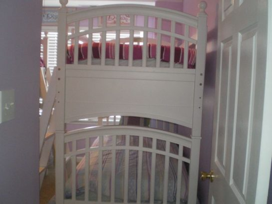 Bunk bed room. Two sets of these bunkbeds single over single sle