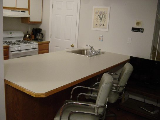 1st floor counter with sink